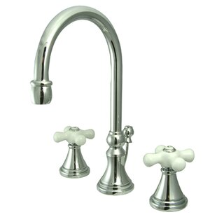Kingston Brass Governor Widespread Bathroom Faucet with Brass Pop-Up Drain