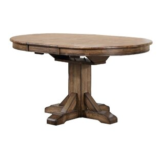 Rutledge Pedestal Extendable Solid Wood Dining Table by Rosecliff Heights New Design