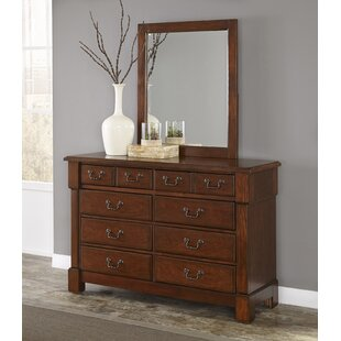 Darby Home Co Cargile 8 Drawer Double Dresser with Mirror