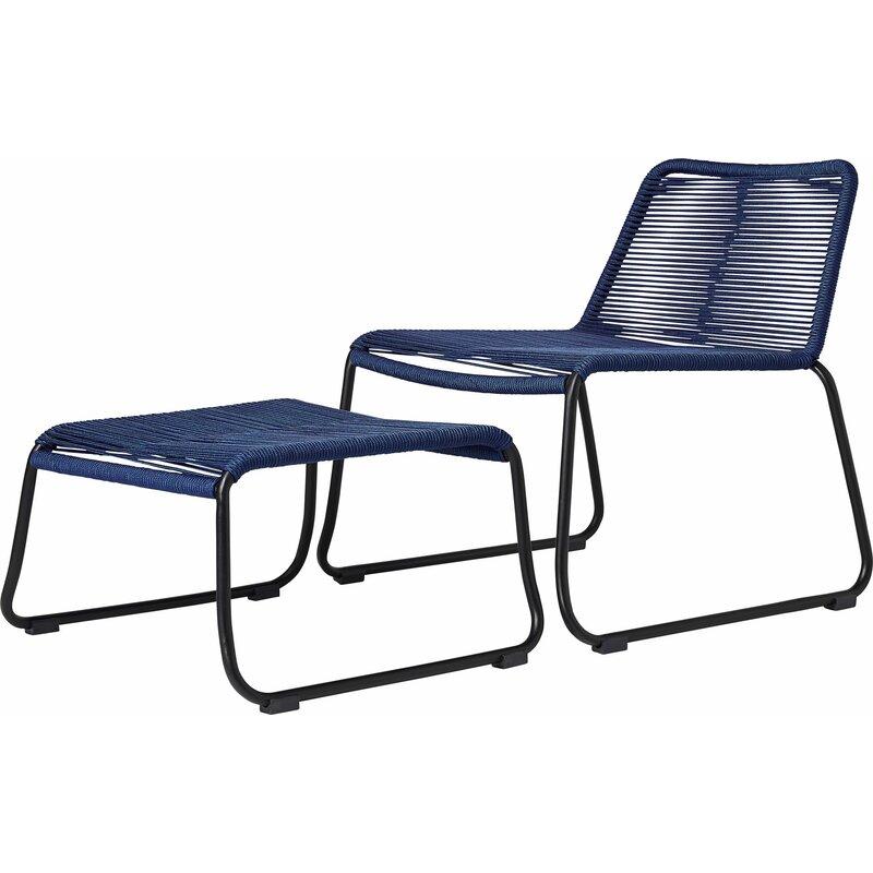Barclay Patio Chair And Ottoman
