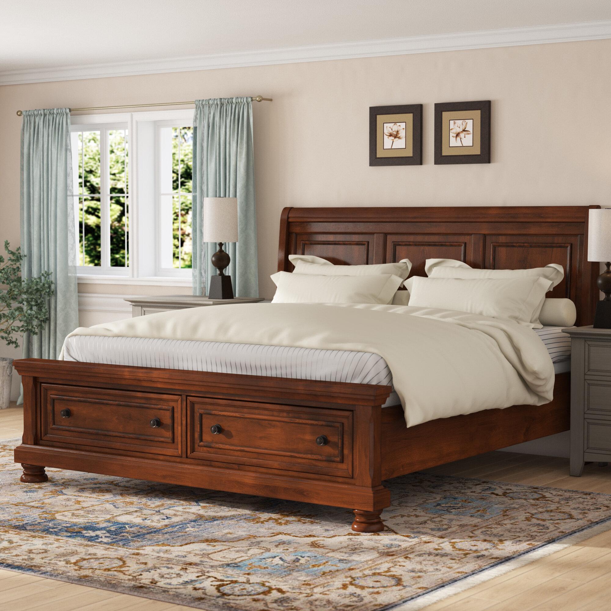 - Charlton Home Estefania Storage Sleigh Bed & Reviews Wayfair