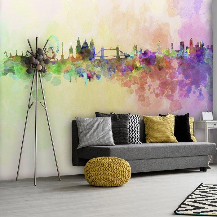 London Skyline 24m X 50cm 6 Piece Wallpaper