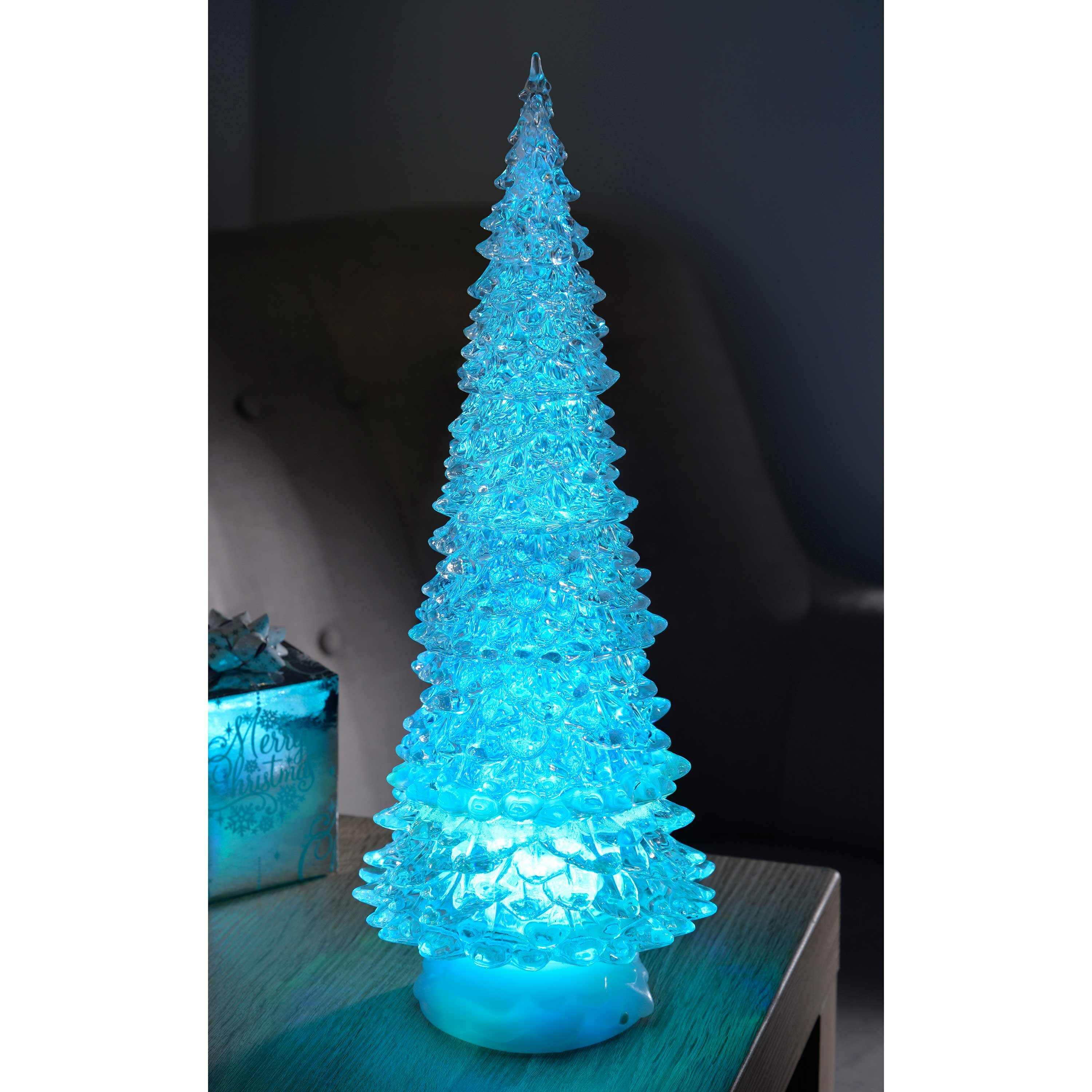 Pre Lit Led Magical Colour Changing Floating Glitter Christmas Tree