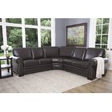Barnabas Leather Symmetrical Sectional byDarby Home Co