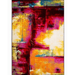 brannigan pinkyellow area rug