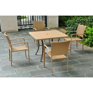 Brayden Studio Katzer 5 Piece Dining Set