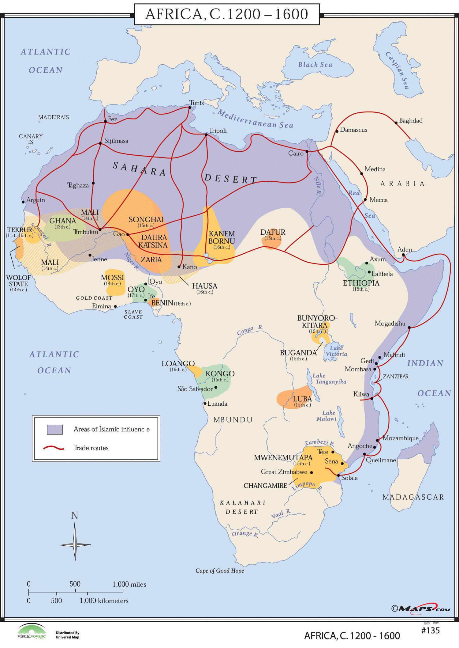 Universal map world history wall maps africa 1200 1600 reviews universal map world history wall maps africa 1200 1600 reviews wayfair gumiabroncs Choice Image