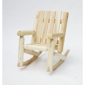 Junior Cedar Log Rocking Chair by Rustic Nat..