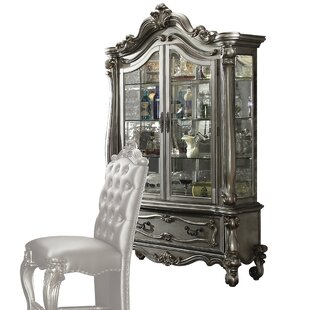 Welton Lighted Curio Cabinet by Astoria Grand
