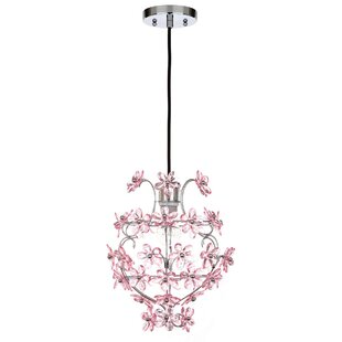 Tennille Floral 1-Light Crystal Pendant by Harriet Bee