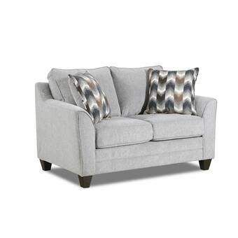 Mistana Jacksonport 50 375 Linen Square Arm Loveseat With Reversible Cushions Reviews Wayfair