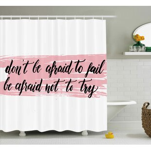 Benninger Try Motivation Quote Single Shower Curtain