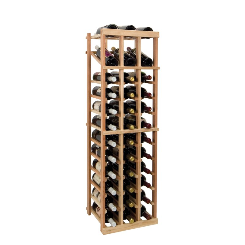 Symple Stuff Florian 36 Bottle Floor Wine Bottle Rack Wayfair