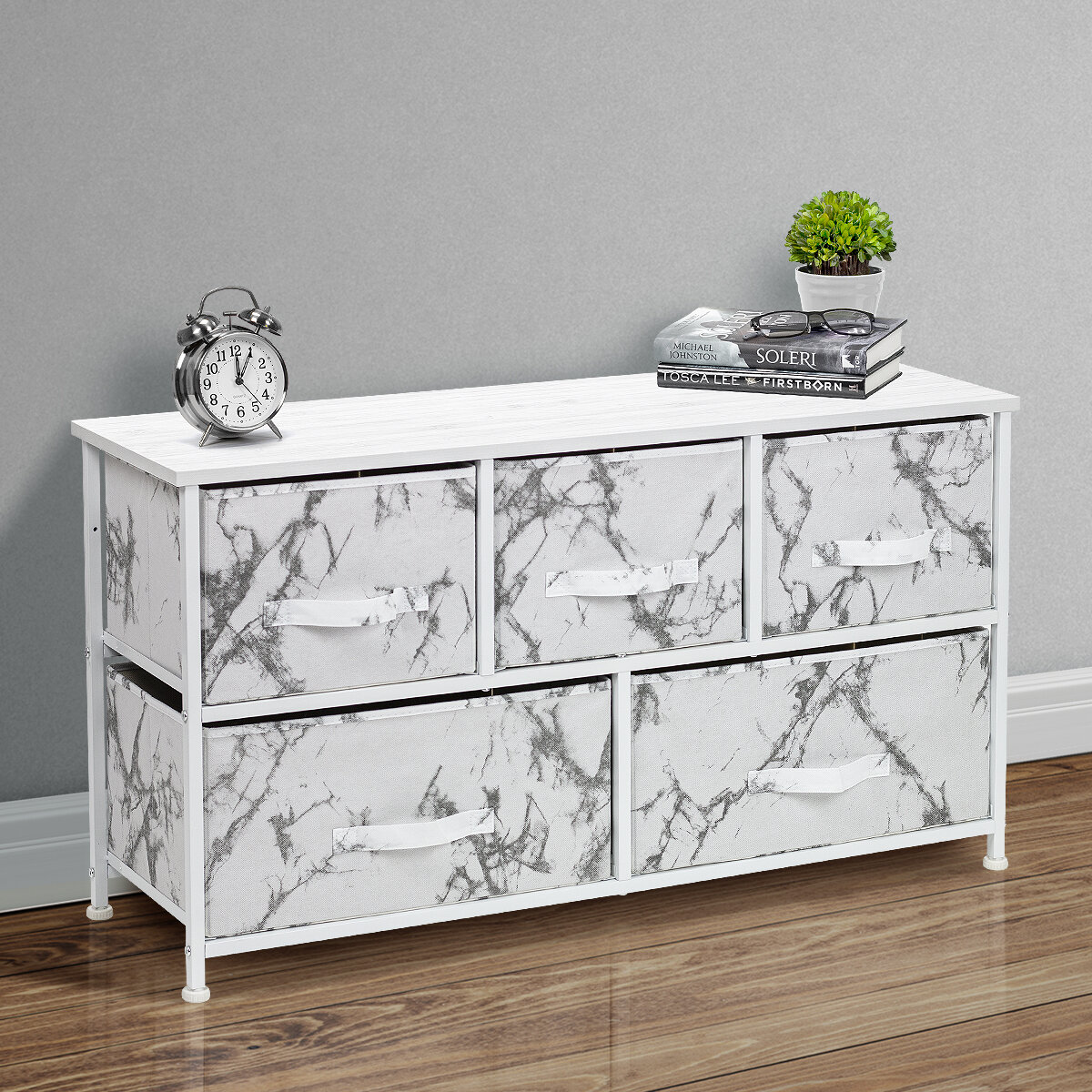 Brayden Studio Latisha 5 Drawer Combo Dresser Reviews Wayfair