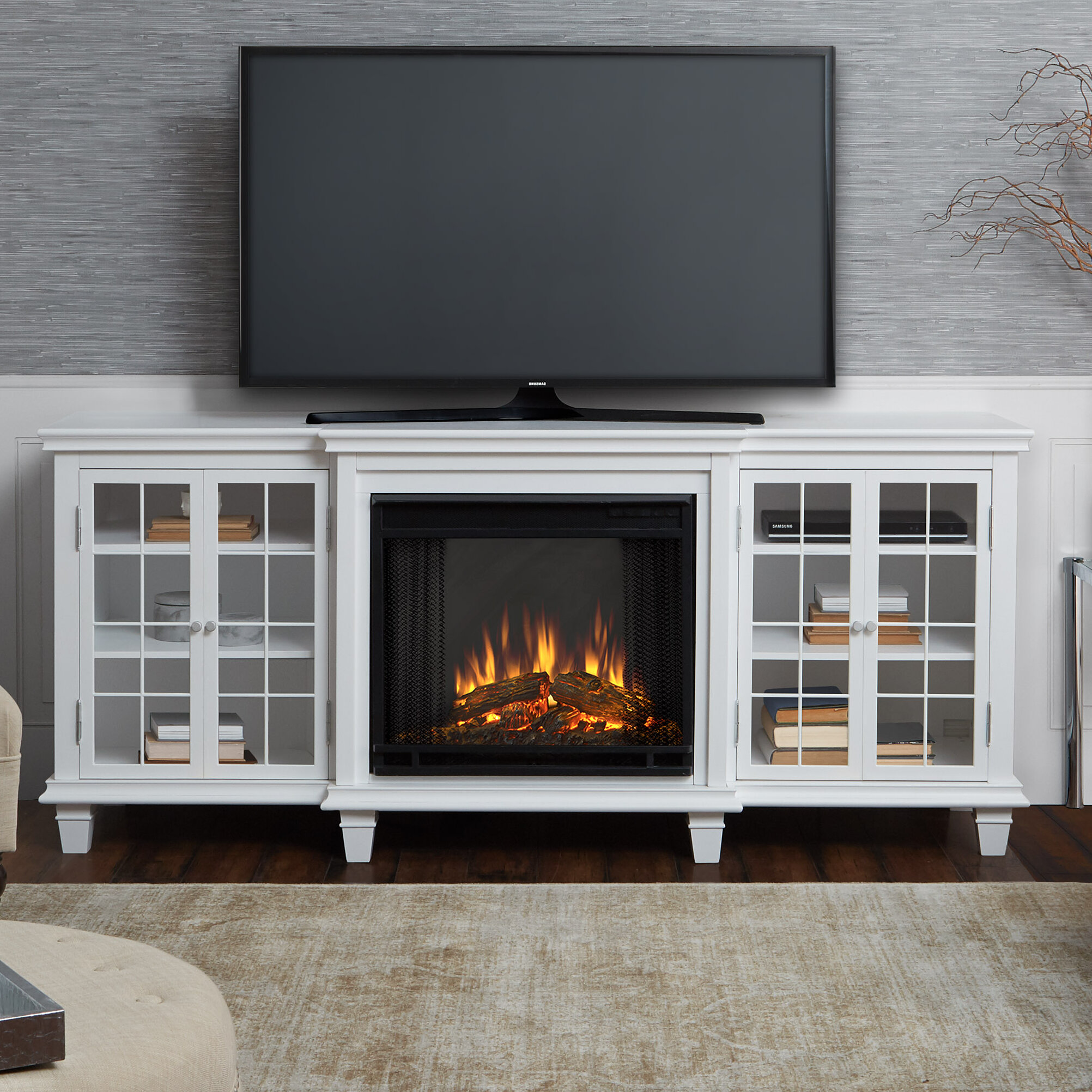 Outstanding Marlowe Tv Stand With Electric Fireplace Download Free Architecture Designs Ponolprimenicaraguapropertycom