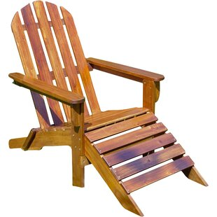 International Caravan Adirondack Chair with Ottoman