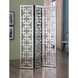 Best Price Orpha 3 Panel Room Divider By Rosdorf Park