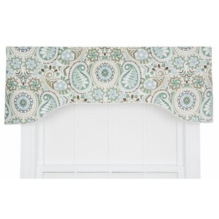 Drumahaman Floral Print Lined Arched Curtain Valance