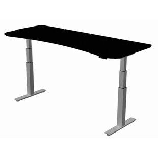 Deals Stretch-Out Focus Shape Standing Desk By SurfaceWorks