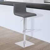 Glenwhirry Swivel Adjustable Height Bar Stool by Orren Ellis