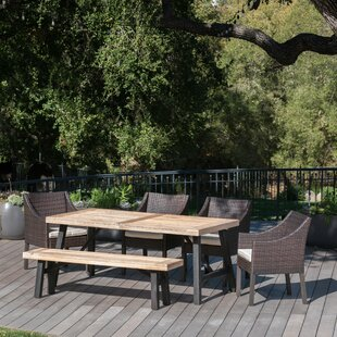 Brayden Studio Aranson Outdoor 6 Piece Dining Set with Cushions