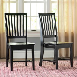 Gamez Solid Wood Dining Chair (Set of 2) Laurel Foundry Modern Farmhouse