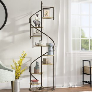 Affordable Price Shauna Spiral Staircase Etagere Bookcase by Laurel Foundry Modern Farmhouse