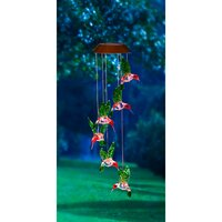 Deals on Freeport Park Green Bui Painted Solar Mobile Wind Chime