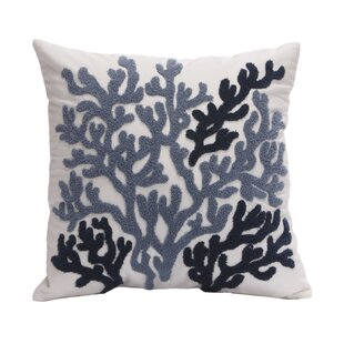 Beach House Cotton Throw Pillow