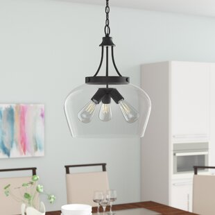 Hickerson 3-Light Inverted Pendant by Mercury Row