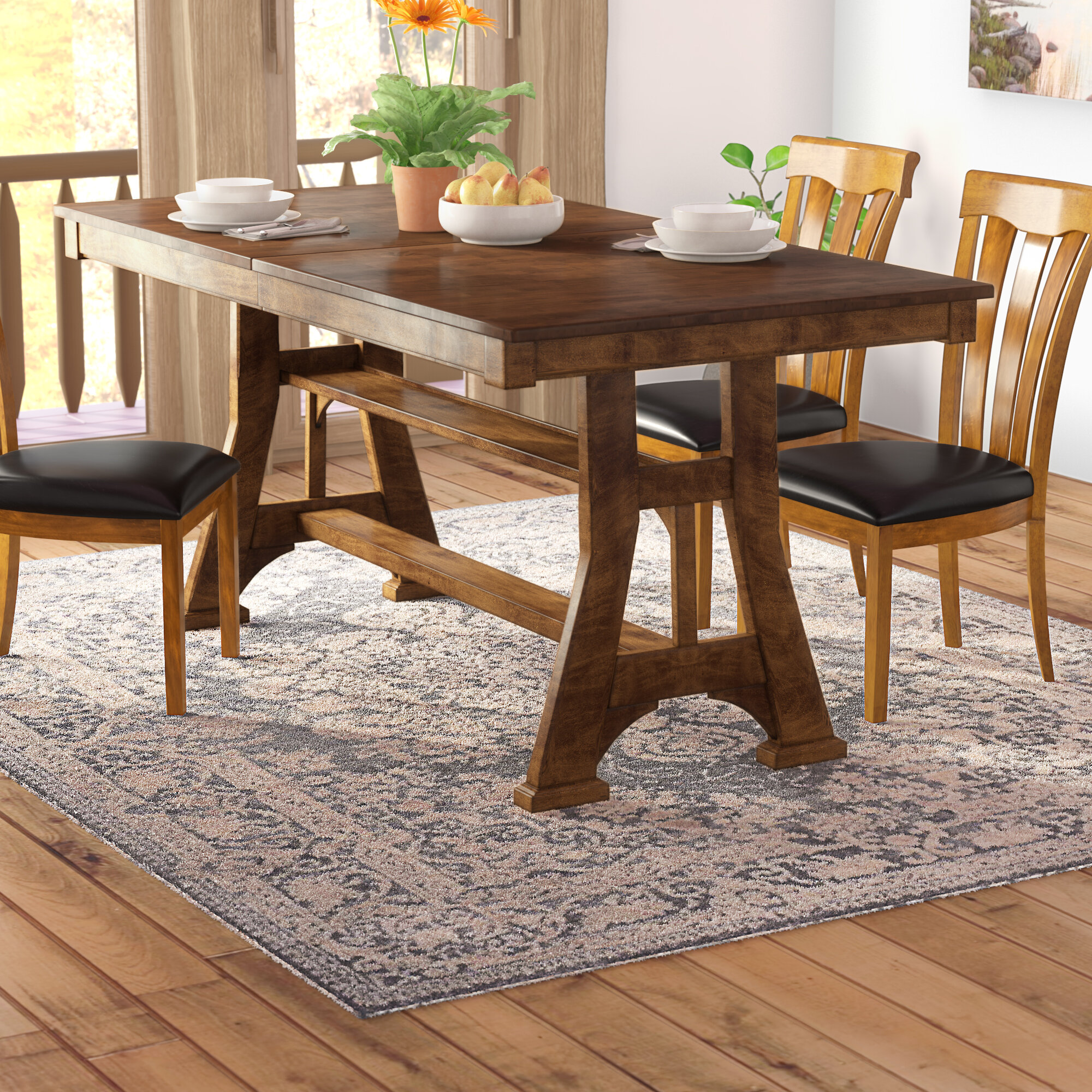 Picture of: Loon Peak Hayashi Counter Height Extendable Dining Table Reviews Wayfair
