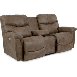 Shop For James La-Z-Time® Power-Recline with Power Headrest Loveseat By La-Z-Boy