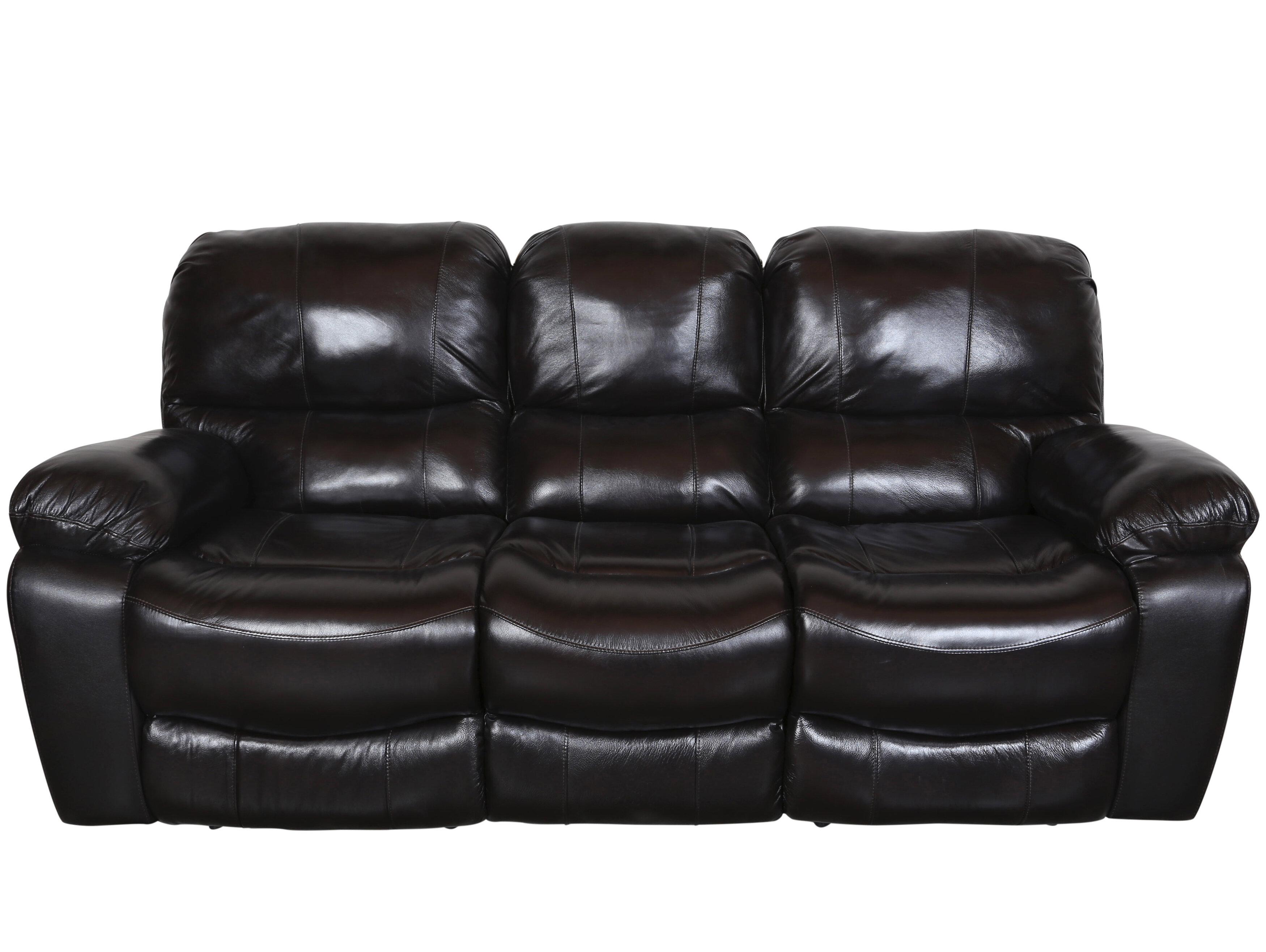 Rashida Modern Leather Reclining Sofa