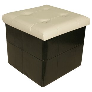Affordable Moline Collapsible Seat Storage Ottoman ByEbern Designs