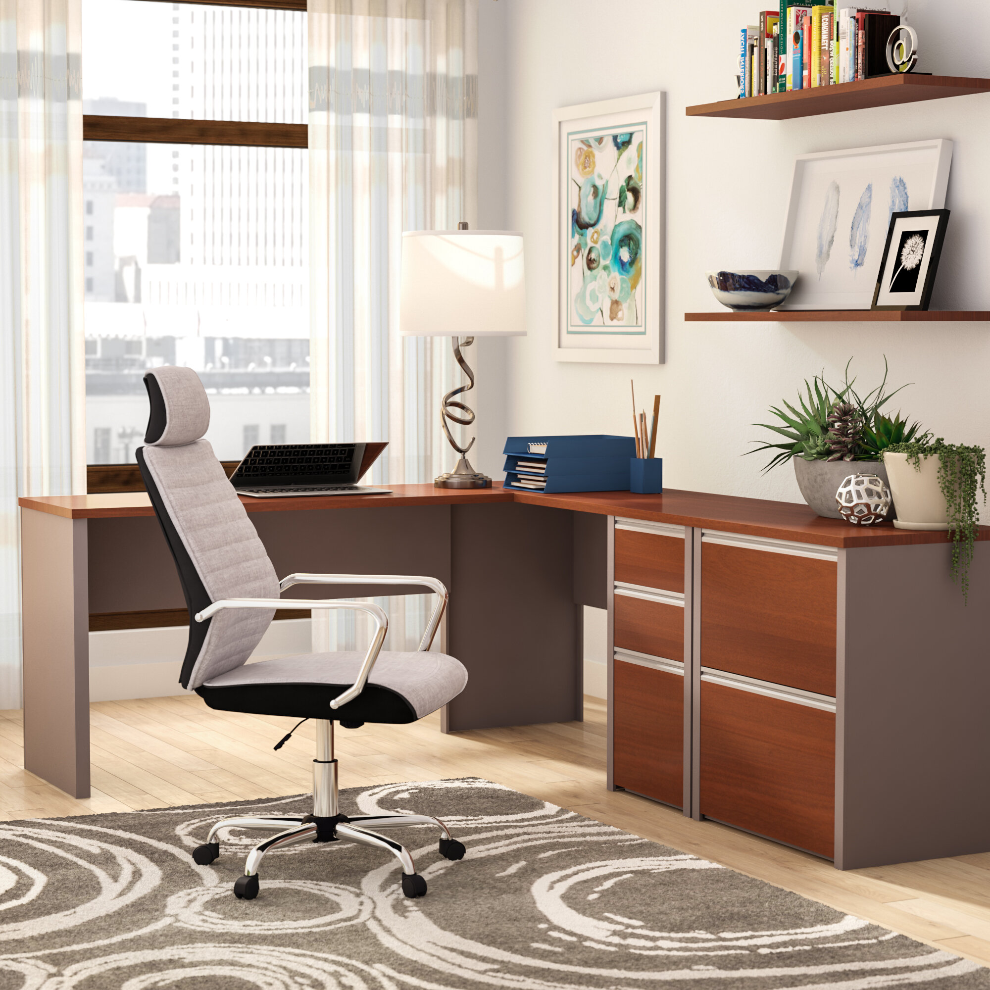 l desk office. Latitude Run Karla 2 Piece L-Shaped Desk Office Suite \u0026 Reviews | Wayfair.ca L