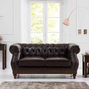 2-Sitzer Sofa Highgrove aus Leder von Home Etc