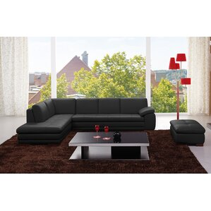 Cassville Leather Sectional by Wade Logan