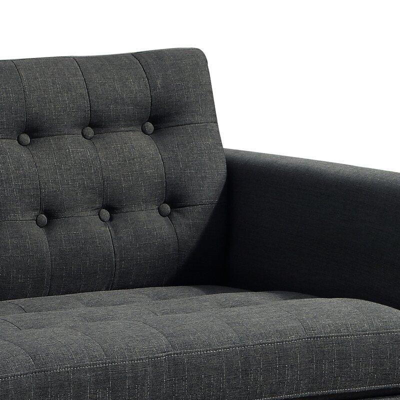 defaultname - Grey Tufted Sofa