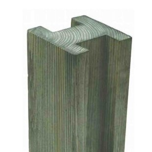 2.4m Slotted Fence Post (Set Of 3) By Bel Étage