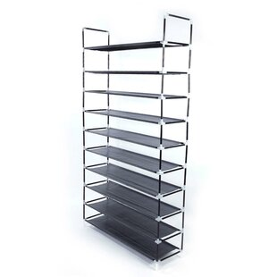 Best Choices Simple Assembly 10 Tiers Non-Woven Fabric 20 Pair Shoe Rack By Rebrilliant