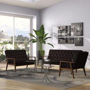 Zipcode Design Zoee Contemporary 3 Piece Living Room Set