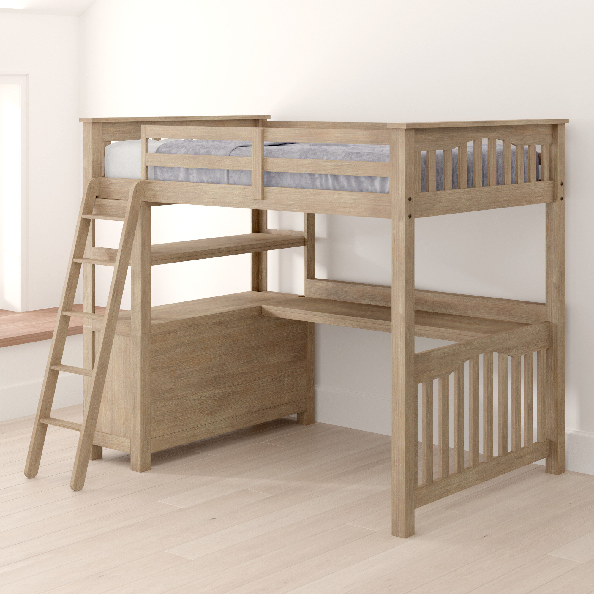 Picture of: Greyleigh Bedlington Loft Bed With Desk And Drawers Reviews Wayfair Ca