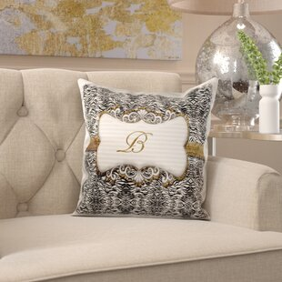 Monogram Letter Pillow Wayfair