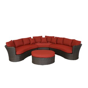 Seagle Curved 4 Piece Sectional Set with Cushions