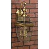 Wall Light Brass IP43 Weatherproof Antique Rustic Outdoor Lamp Lantern House Farm