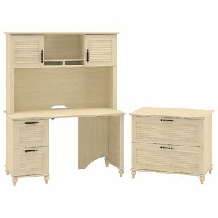 Volcano Dusk Standard 3 Piece Desk Office Suite by Kathy Ireland Office Bush Comparison