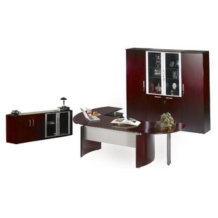 Mayline Group Napoli 4-Piece Series Standard Desk Office Suite