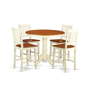 Jackson 5 Piece Counter Height Pub Table Set by Wooden Importers