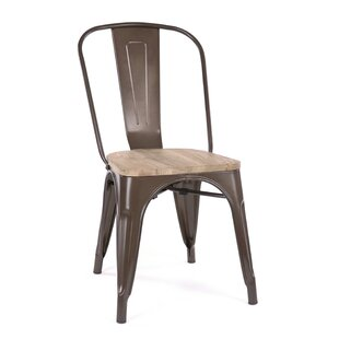 Williston Forge Despres Glossy Elm Wood Stackable Dining Chair (Set of 2)