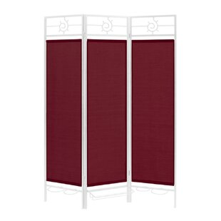 Torrez 3 Panel Room Divider by Rosecliff Heights